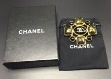 Chanel France Vintage Authentic Black Gripoix Cabochon 07A Brooch Pin