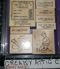 STAMPIN UP AND MANY MOWER 8 RUBBER STAMPS GOLF MENS FATHERS DADS