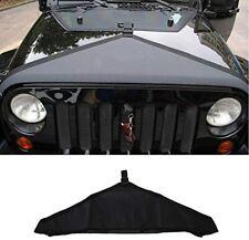 Front Hood Cover Bra Cover T-Style Protector Kit For Jeep Wrangler JK 07+ Black
