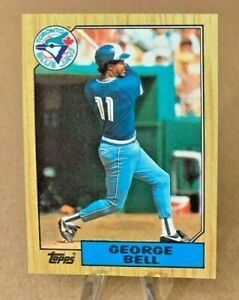 1987 Topps ⚾ GEORGE BELL #681, Toronto Blue Jays  -  NM/MINT
