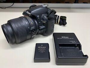 NIKON D3100 14.2MP Digital SLR CAMERA W/ 18-55mm Lens + CHARGER  & BATTERY