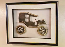 Vintage Three-Dimensional (3D) Ford Model-T Automobile Wall Art Sculpture