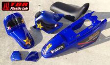 New PW 50 Plastics Plastic Kit Tank Seat Fenders Blue Rockstar Graphic Stickers
