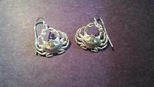 Womens Fine Jewelry SMALL Loop Back Earrings DUNGENESS CRAB Sterling Silver