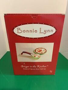 Bonnie Lynn Ginger in the Kitchen Trivet & Spoon Rest Gift Set Gingerbread Man