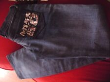 NEW WITHOUT TAGS MISS SIXTY SKINNY JEANS AGE 10 CRYSTAL POCKET NEXT DAY POST