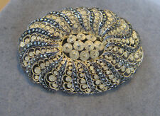 Vintage Sterling Silver German Marcasite Pin Signed