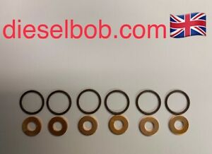 Audi Q7 TDI IMPROVED injector sealing washers with O rings (pack of 6) FREE P&P
