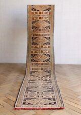 Vintage Long Moroccan Kilim Runner Rug 262 x 51cm