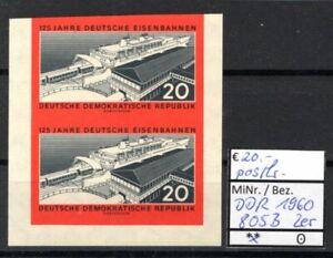 DDR 1960 125 Jahre Deutsche Eisenbahnen MiNr. 805 B Paar postfrisch