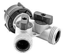 Garden Hose Splitter with 2-Way Water Y-Connector Shut-Off Valve Hi-impact metal
