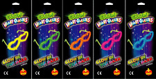 60 Pairs Neon Glow Heart Glasses Glow Sticks Shades Fancy Dress Party Glowsticks