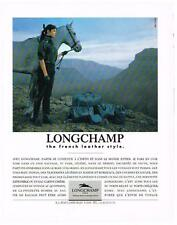 PUBLICITE ADVERTISING  1987   LONGCHAMP  collection sacs bagages