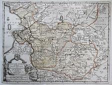 van der Aa: Original Kupferstich Landkarte Niederlande Overijssel Zwolle; 1714