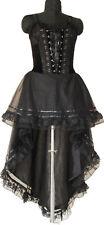 Gothic Long Corset Dress Black Custom Made Plus Size37