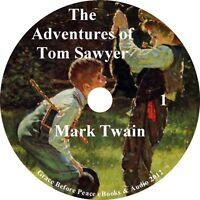 Adventures of Tom Sawyer, Mark Twain Audiobook Fiction 6 Audio CDs Free Shipping