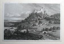 Burg ALT-EBERSTEIN; Ebersteinburg; Baden Baden. Originaler Stahlstich 1845