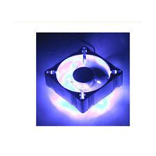 EverCool 4 Blue LED Fan Aluminum 80mmx80mmx25mm, 3Pin
