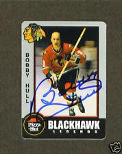Bobby Hull signed Blackhawks Pizza Hut trading card