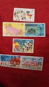 Postage Stamps Anguilla Christmas 1976 Used SG No.262/7