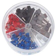 Aderendhülsen isoliert doppelt je 2 x 0,5 - 2,5 mm² 200 Stück, Hülsen Set