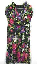Chadwicks Women's Size 10 100% Polyester Spring/Summer Short Sleeve Floral Dress