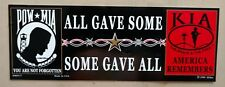 91101 All Gave Some Some Gave All KIA POW MIA Bumper Sticker (9.5 x 3.5)