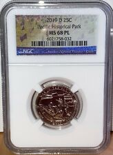 2019 D Pacific War Guam Historical Park Quarter 25C NGC MS68 PL Proof Like  032