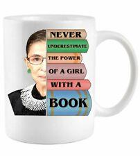 RBG Never Underestimate Ruth Bader Ginsburg - White Mug