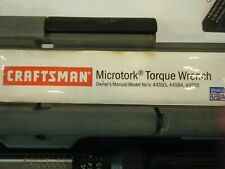 CRAFTSMAN MICROTORK TORQUE WRENCH 44593