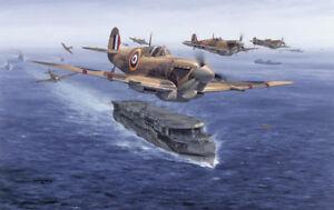 Limited Aviation Print Spitfires Malta Bound by Philip E West
