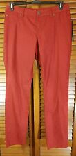 NWT Inc Denim Skinny Leg Regular Fit Red Womens Jeans Size 10
