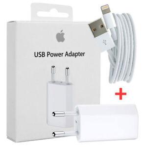 Caricabatterie A1400 ORIGINALE+Cavo Dati Usb iPhone 5S 6 6S 7 SE 8 X XPlus XR 11