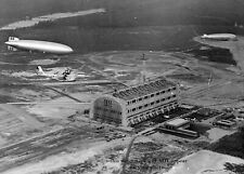 1936 Hindenburg Blimp Landing PHOTO Lakehurst NJ Airship Zeppelin First Flight