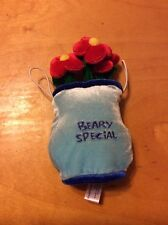 """Beary Special"" Build-a-Bear Message Hugger Pillow Accessory Flowers Design"