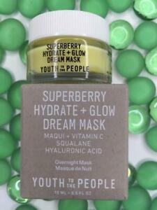 YOUTH TO THE PEOPLE Superberry Hydrate+Glow Dream Mask .5oz Travel Sz NEW in Box