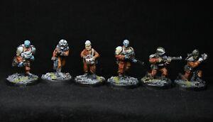 Painted 28mm Sci-Fi: Stargrave Crew Members (6 models)