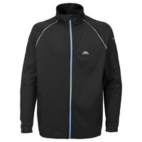 Trespass Clive Mens Long Sleeved Jumper Full Zip Quick Dry Black Active Top