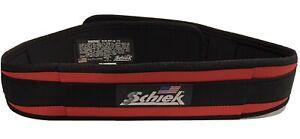 "Schiek Unisex Adult Sports 2004 Nylon 4 3/4"" Weight Lifting Belt Large Black Red"