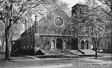 Grinnell IA St Mary's Roman Catholic Church in the Spring~B&W 1940s SHARP!