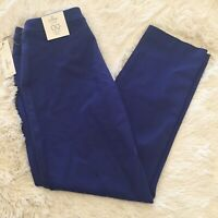 NWT Women's CHICO'S So Slimming Getaway Ankle Stretch Neon Blue Denim Jeans - 00