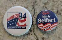 Vintage Button Pinback Lot Minnesota MN Campaign Seifert Farmfest 94 Redwood Co