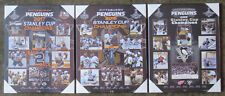 Set of 3 Pittsburgh Penguins Stanley Cup Championship Plaques- 2017, '16 & '09