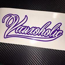 PURPLE Vauxoholic Car Sticker Decal Funny Vauxhall Opel VXR Sri GTC Corsa Astra
