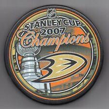 Anaheim Ducks 2007 NHL Stanley Cup Champions Hockey Puck + FREE Cube