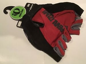 Pearl Izumi Men's Cycling Leather Gloves Large Pittards Red & Black