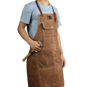 Tourbon Multi-functional Aprons Work Tools Storage Repair Pockets Waxed Canvas