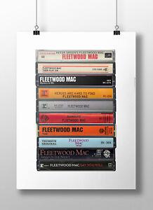 Fleetwood Mac Poster: Cassette Print, Fleetwood Mac Albums, Fan, Gift, Art