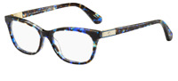 *NEW AUTHENTIC* KATE SPADE AMELINDA 0JBW BLUE HAVANA EYEGLASS FRAME 50MM