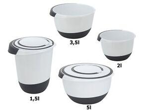 Rührschüssel Set 1,5 l, 3,5 & 2 L Salat Teig Schüssel Quirltopf Stoppboden